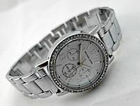 Часы женские Michael Kors в кристаллах, цвет корпуса сталь