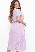 / Розмір 54,56,58,60 / Жіноче красиве бавовняне плаття / Лідія колір бузок, фото 3