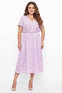 / Розмір 54,56,58,60 / Жіноче красиве бавовняне плаття / Лідія колір бузок, фото 4