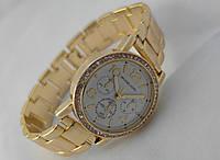 Часы женские Michael Kors в кристаллах, цвет корпуса золотистый