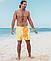 Шорты хамелеон для плавания, пляжные мужские спортивные меняющие цвет жёлтые с рисунком размер 2XL код 26-0093, фото 3