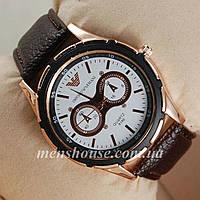 Бюджетные часы Armani Dials Pink Gold/White