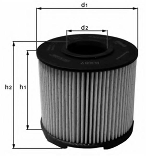 Фільтр паливний Knecht KX87D