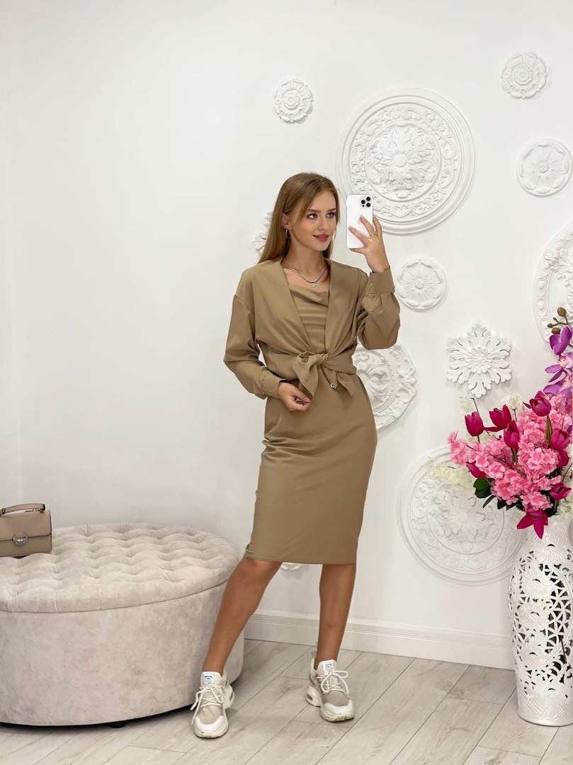 Жіночий костюм двійка сукня + сорочка