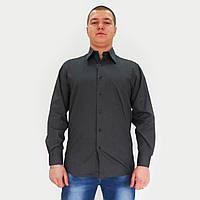 Рубашка мужская серая. Длинный рукав,классический силуэт. Разм.M.Распродажа.