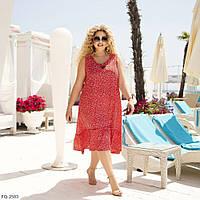 Ніжний літній летить асиметричне плаття вільного крою з софта р: 48-50, 52-54, 56-58, 60-62 арт. 879