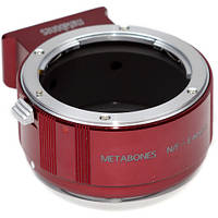 Metabones Nikon F Mount Lens to Sony NEX Camera Lens Mount Adapter II (Red) (MB_NF-E-RM2)