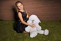 Мягкая игрушка плюшевый Зайчик Снежок 100 см.
