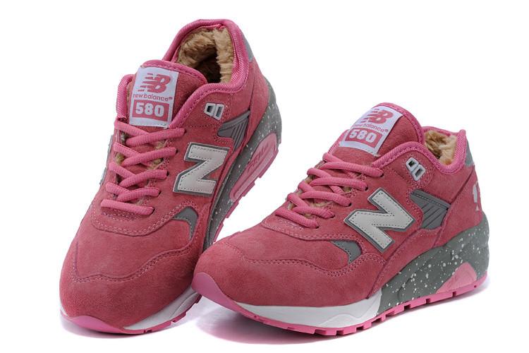 Женские зимние кроссовки New Balance 580 pink - Интернет магазин обуви  Shoes-Mania в Днепре 212c5f7120db6