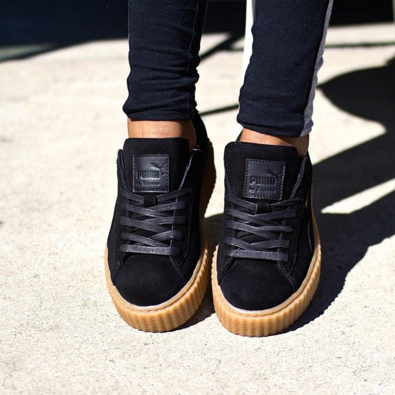 cd09d9e4cd6a Женские кроссовки PUMA Rihanna черные АТ-134 - «Riccardo» - мультибрендовый  интернет-