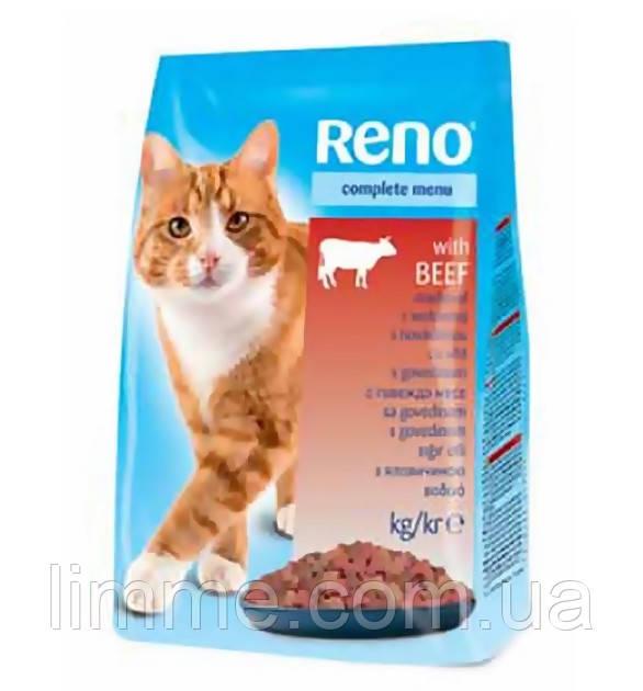Сухий корм для кішок з м ясом говядини Reno with Beef 10 кг.