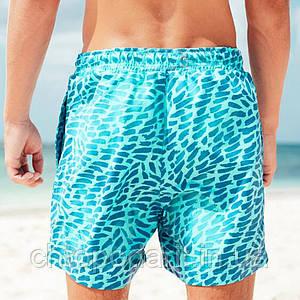 Шорты хамелеон для плавания, пляжные мужские спортивные меняющие цвет синие с рисунком размер XS код 26-0012