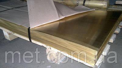 Лист латунный 10 мм Л63