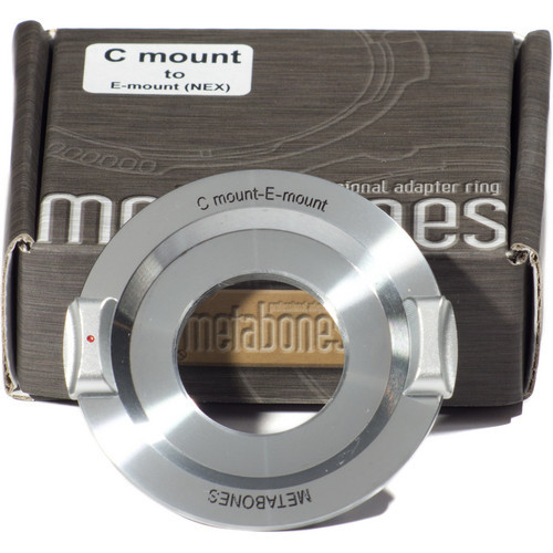 Metabones C-Mount Lens to Sony NEX Camera Lens Mount Adapter (Chrome) (MB_C-E-CH1)