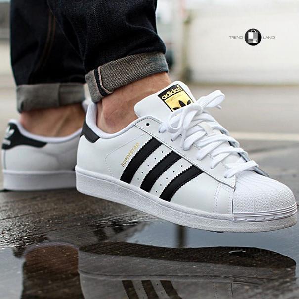 Чоловічі кросівки в стилі Adidas Superstar Originals Black/Gold