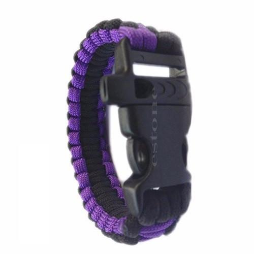 Браслет выживания Paracord black purple