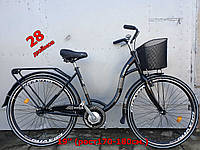 Дорожный мужской велосипед 28 Ardis Paola Nexus с корзиной и стальной рамой, черный