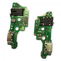 Разъем зарядки Tecno Camon 15 на плате с разъемом под наушники и микрофоном (копия AA), фото 1