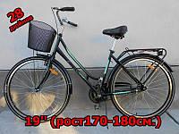 Дорожный городской мужской велосипед 28 Ardis Siene со стальной рамой и корзиной, черный