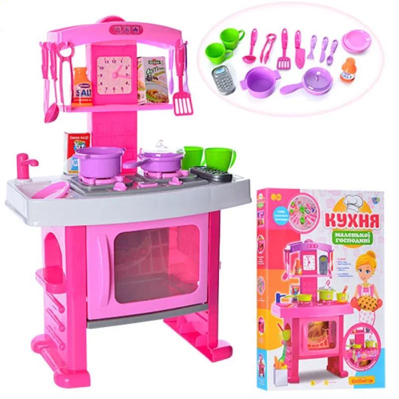 """Дитяча ігрова кухня """"Маленької господині"""" з годинником, звукові ефекти, в коробці 661-51"""