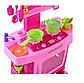 """Дитяча ігрова кухня """"Маленької господині"""" з годинником, звукові ефекти, в коробці 661-51, фото 2"""