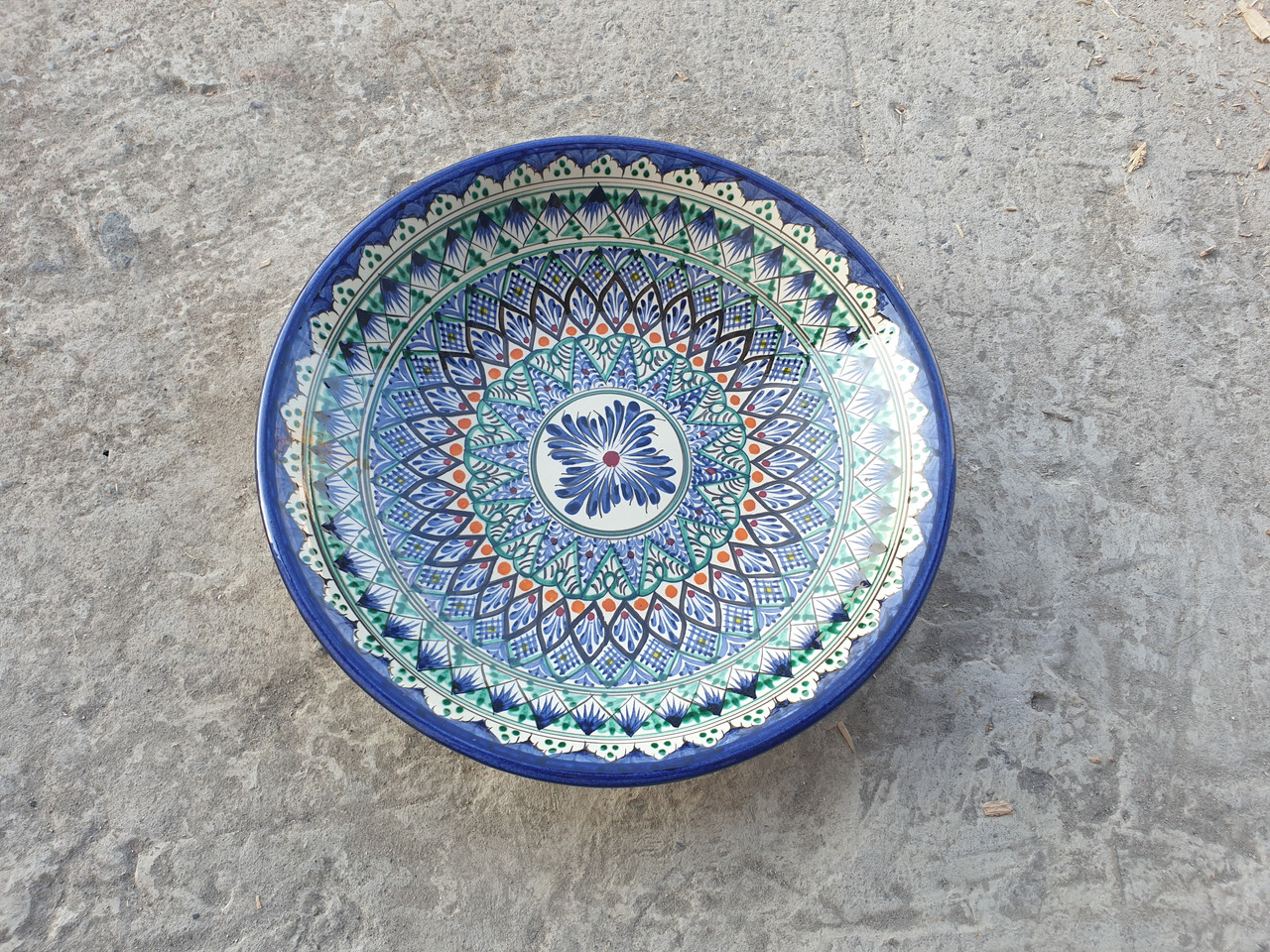 Хан-Ляган 33см×6см Риштанская кераміка.