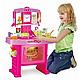 """Дитяча ігрова кухня """"Маленької господині"""" з годинником, звукові ефекти, в коробці 661-51, фото 3"""