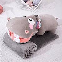 Игрушка-подушка в форме бегемота 65 см