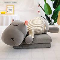 Игрушка-подушка в форме бегемота 60 см