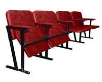 Кресло актового зала 4-х местное ткань
