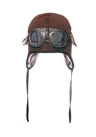 Шапка на мальчика с декоративными очками, утепленная исскуственным мехом, фото 2