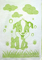 Детское мягкое одеяло 100% хлопок 100х140см Собачка