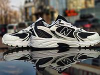 Кроссовки мужские женские подростковые New Balance 530 White Black Нью Беланс Баланс 530 Черные Белые