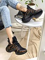 Кроссовки женские Louis Vuitton Archlight Monogram Brown Луи Витон коричневые
