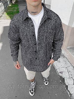 Рубашка мужская байковая серая теплая