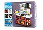 Детская игровая кухня для девочек 8775, звук, свет, течет вода, в коробке, 52 предмета, фото 2