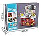 Дитяча ігрова кухня для дівчаток 8775, звук, світло, тече вода, в коробці, 52 предмета, фото 3