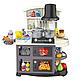Детская игровая кухня для девочек 8775, звук, свет, течет вода, в коробке, 52 предмета, фото 4