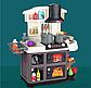 Дитяча ігрова кухня для дівчаток 8775, звук, світло, тече вода, в коробці, 52 предмета, фото 5