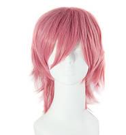 Парик розовый короткий аниме косплей cosplay