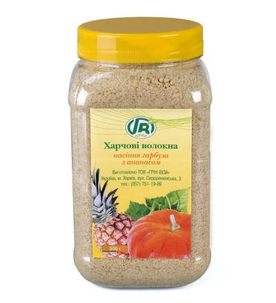 Пищевые волокна семян тыквы с ананасом 200 гр.