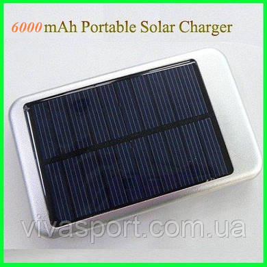 Мобильное зарядное устройство Solar Charger на 6000  мАч (солнечная зарядка Солар Чарджер)