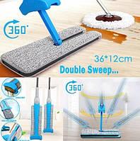 Самоотжимающаяся швабра лентяйка двухсторонняя с вертикальным отжимом Switch N Clean