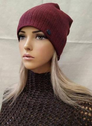 Молодежная шапка из ангоры с ЛЮРЕКСОМ Жанна ODYSSEY бордо 43846, фото 2