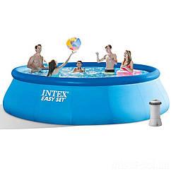 Надувной бассейн Intex 28158, 457 х 84 см (2 006 л/ч), (Оригинал)