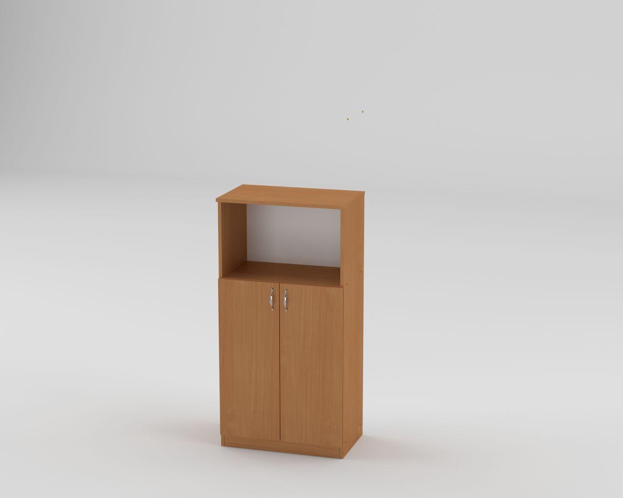 Шкаф пенал низкий с полками для книг и документов КШ-15 с нишей высота 120 см и ширина 60 см МФ Компанит