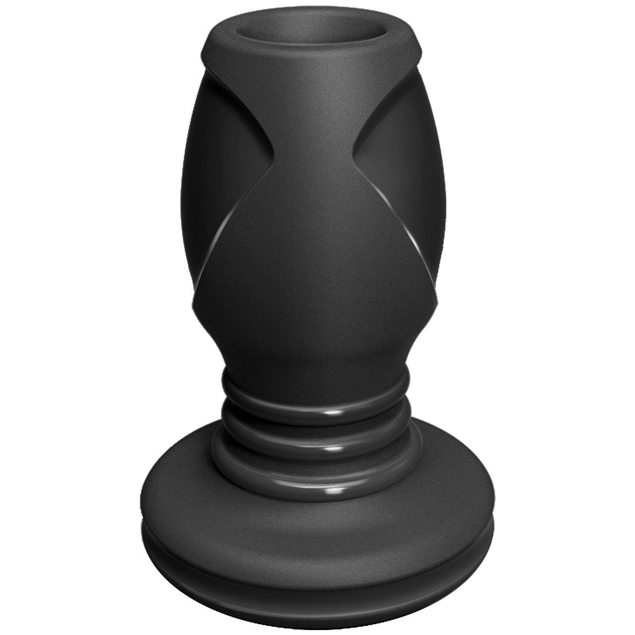Анальний тунель Doc Johnson Platinum Premium Silicone - The Stretch - Medium - Black   18+