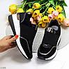 Черные комфортные стильные женские кроссовки сникерсы на каждый день, фото 10