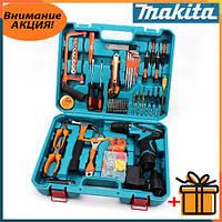 Акумуляторний Дриль Шуруповерт Makita DF330DWE (12V, 2Ah) Шуруповерт з набором інструменту + мультитулс