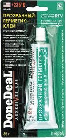 DD6705 Прозрачный силиконовый герметик-клей для стекол 85 г